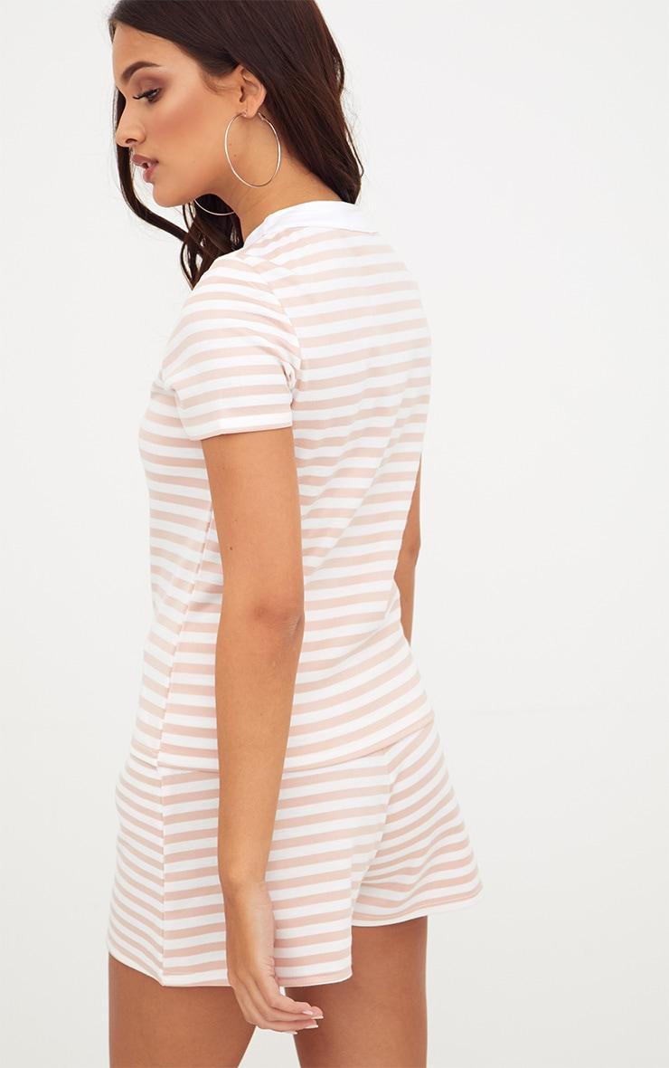 Nude Scuba Stripe Boxy T Shirt 2