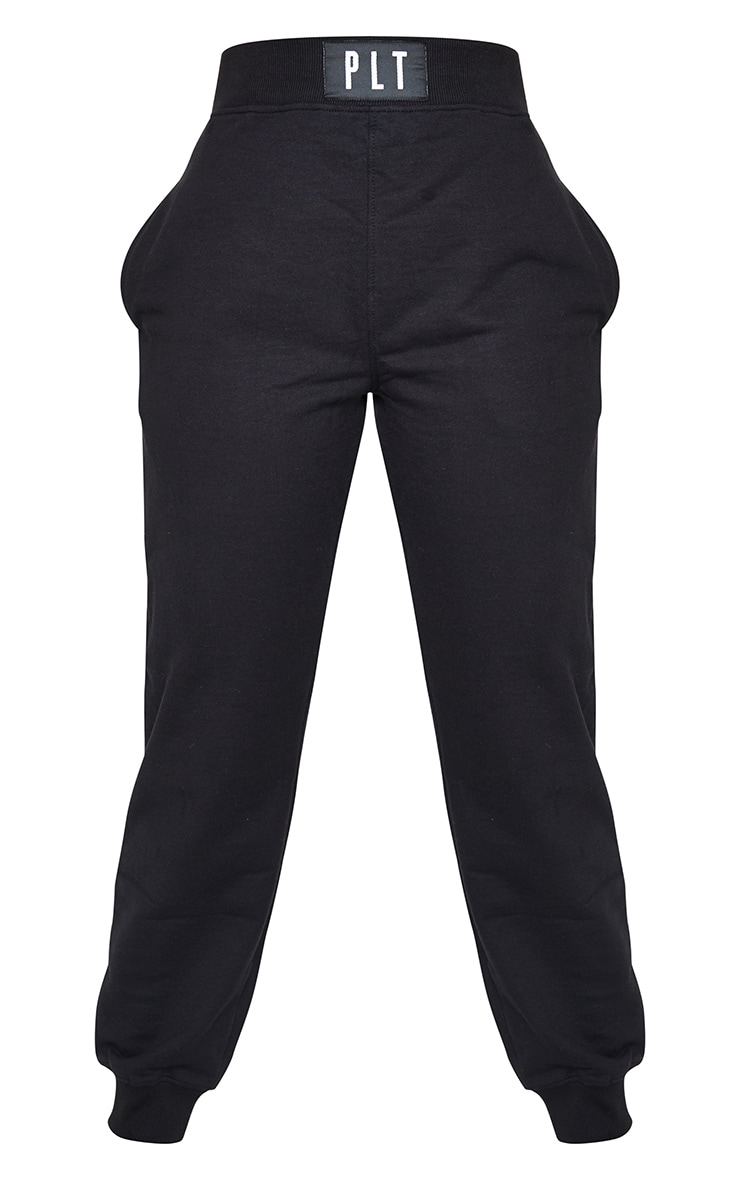PRETTYLITTLLETHING Black Badge Detail Casual Joggers 5