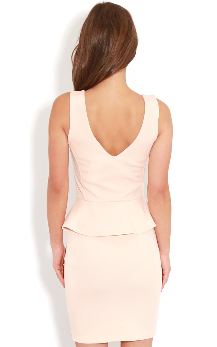 Rylie Peach Peplum Dress 2
