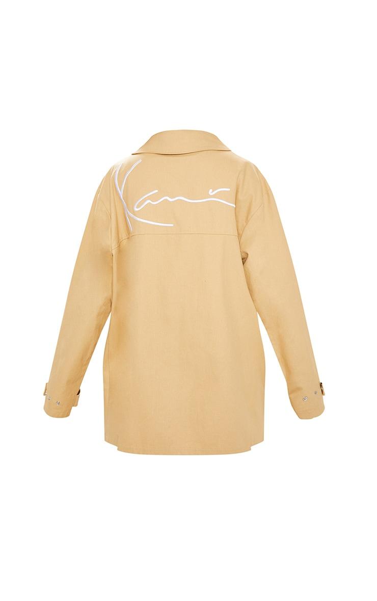 KARL KANI Camel Embroidered Oversized Cargo Jacket 6