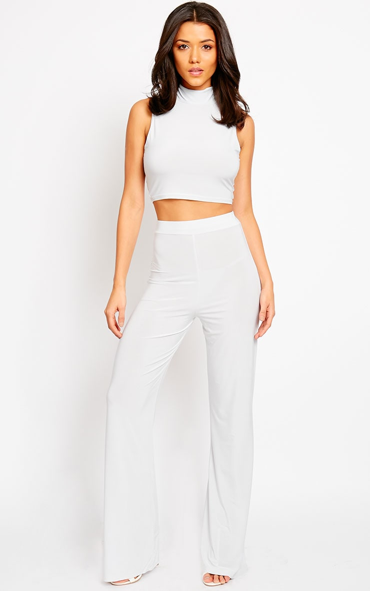 Remi Grey Soft Touch Wide Leg Trousers 1