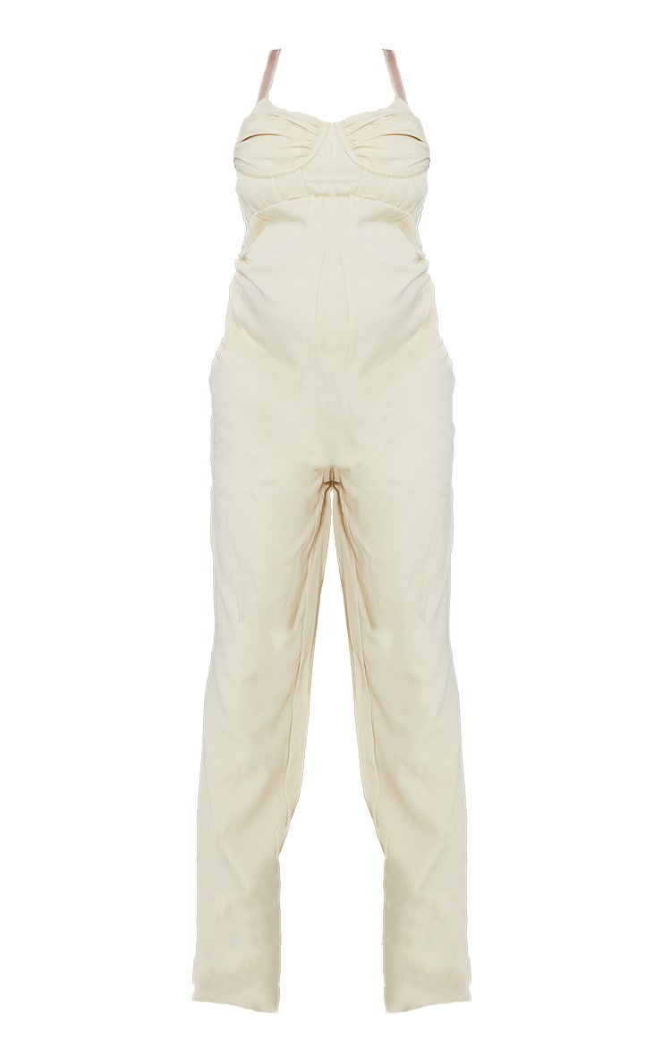 Maternity Stone Tailored Strappy Jumpsuit 5