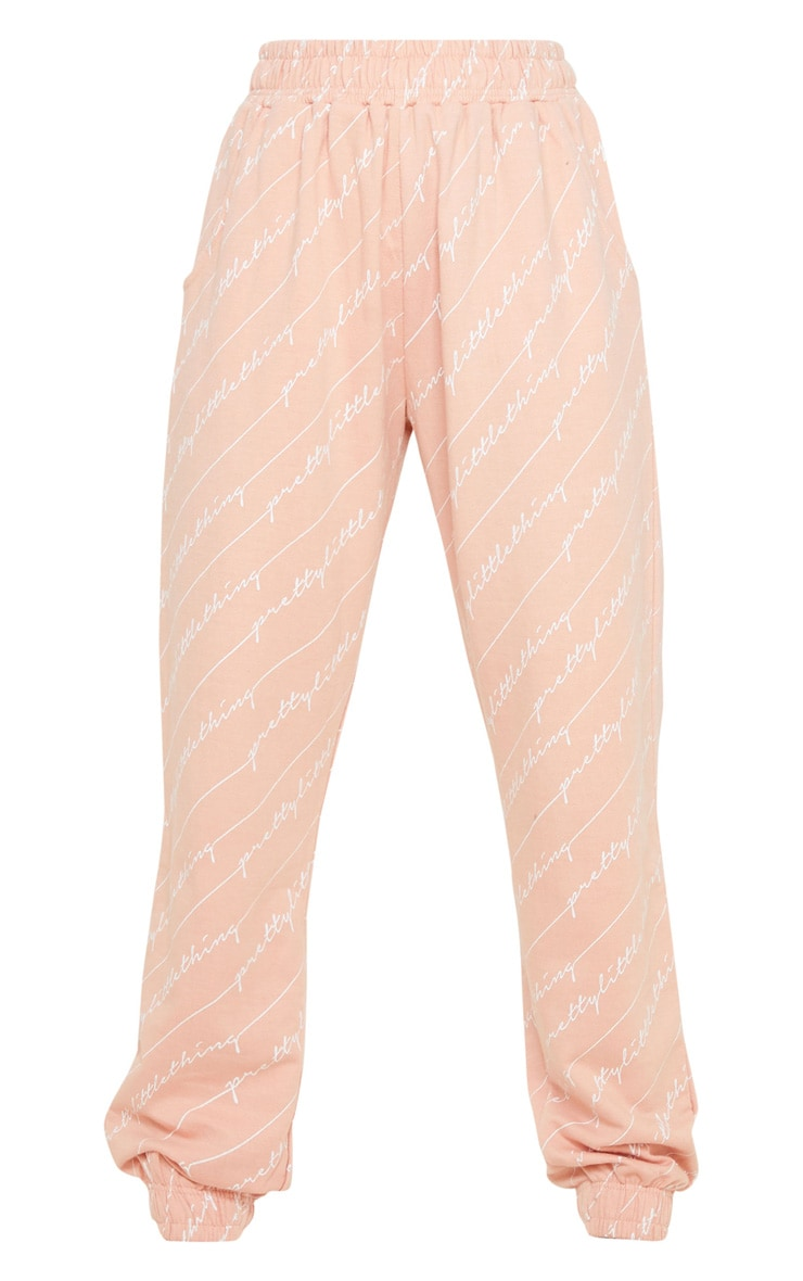 PRETTYLITTLETHING Pink Printed Jogger 3