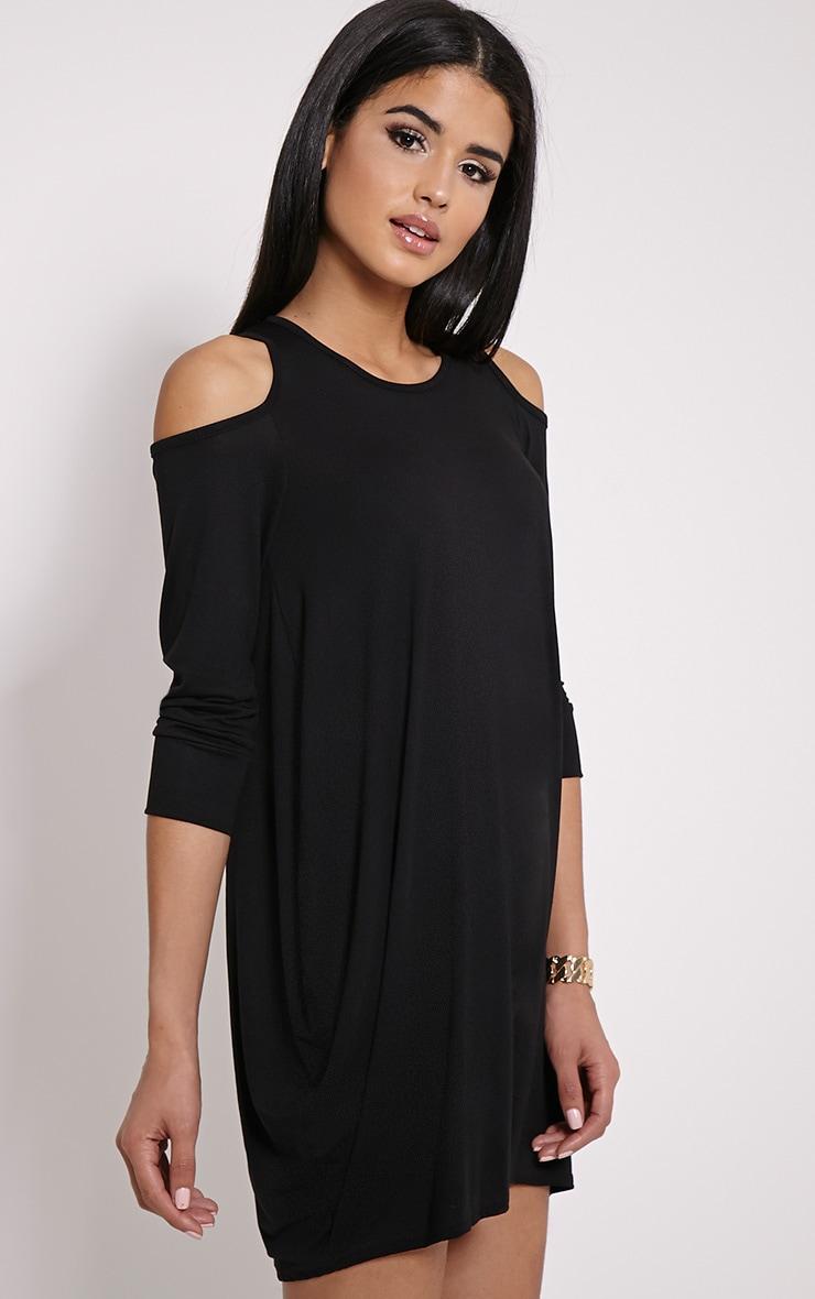Bronywn Black Cut Out Shoulder Dress 4
