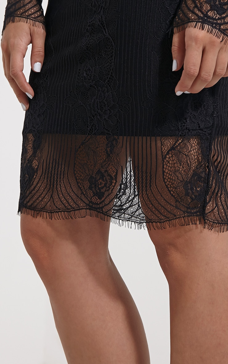 Luisa Black Lace Mini Skirt 6