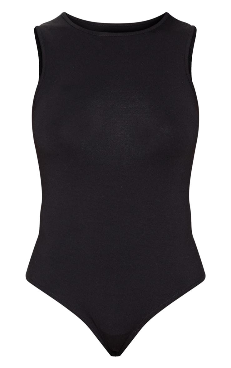 Black High Neck Sleeveless Bodysuit 3