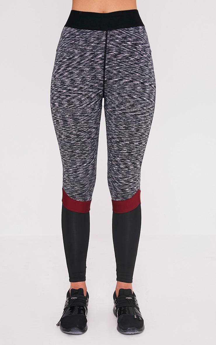 Kenna Berry Panelled Gym Leggings 2