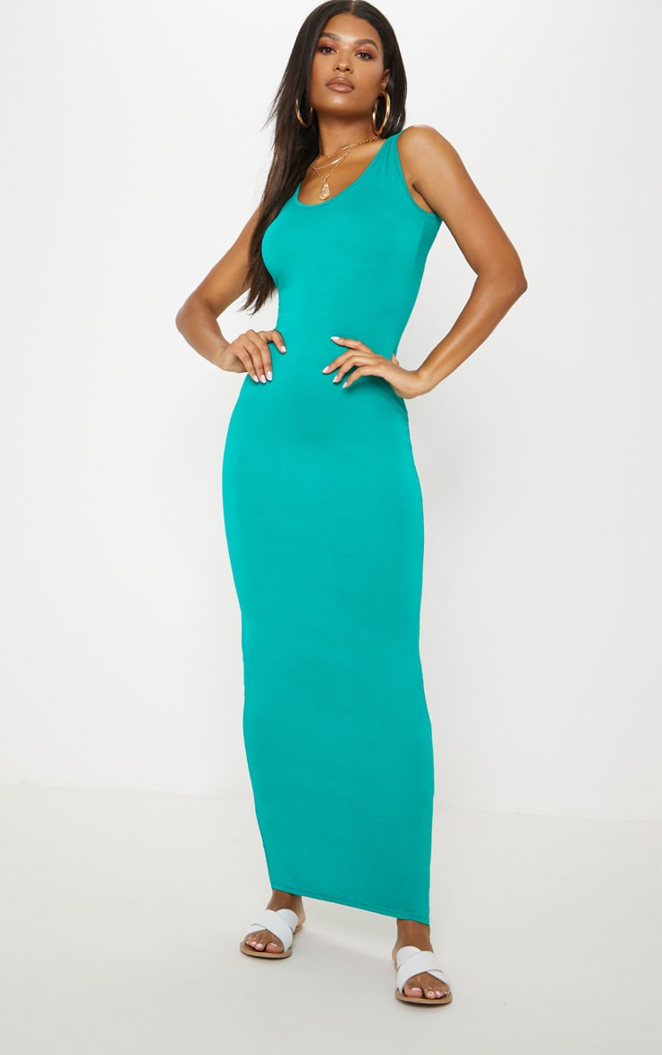 Basic Jewel Green Maxi Dress 4