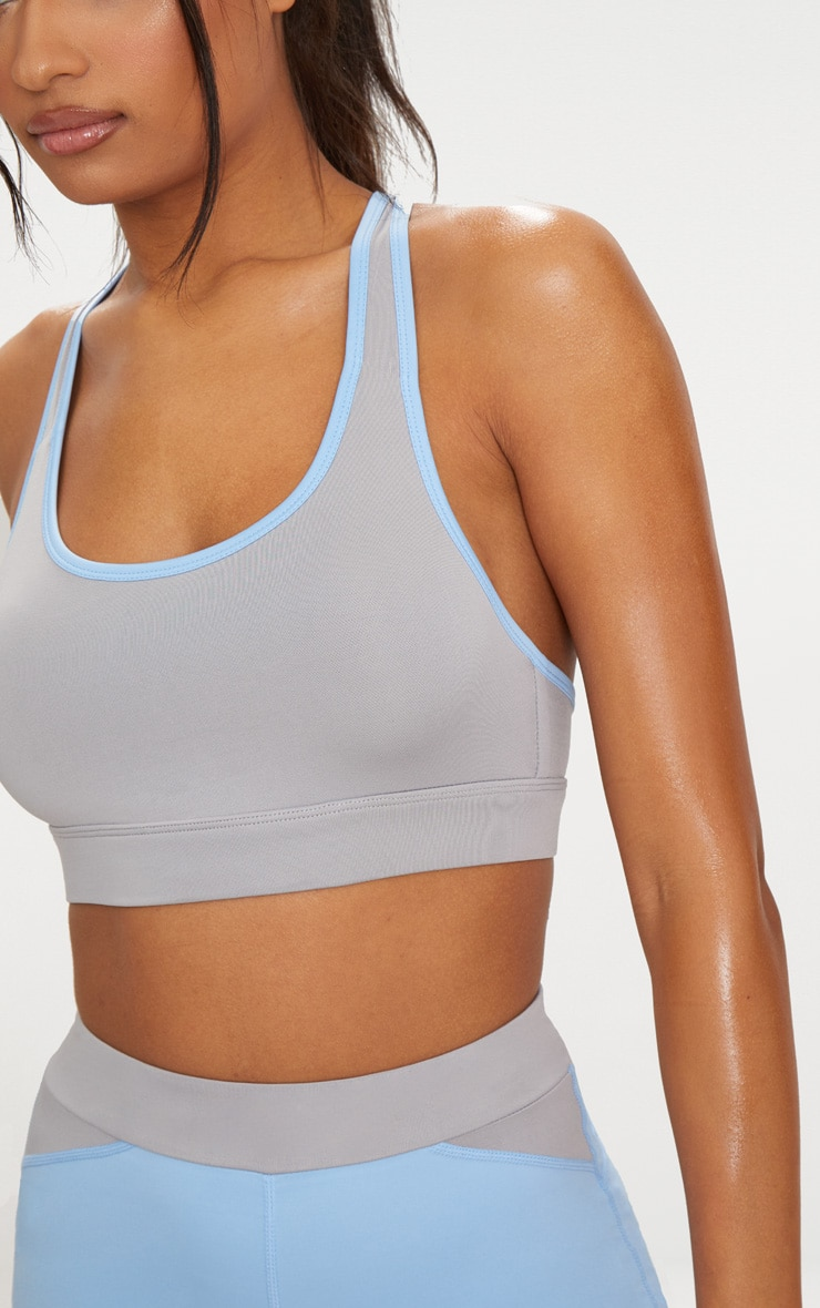 Grey Binding Crop Top 5