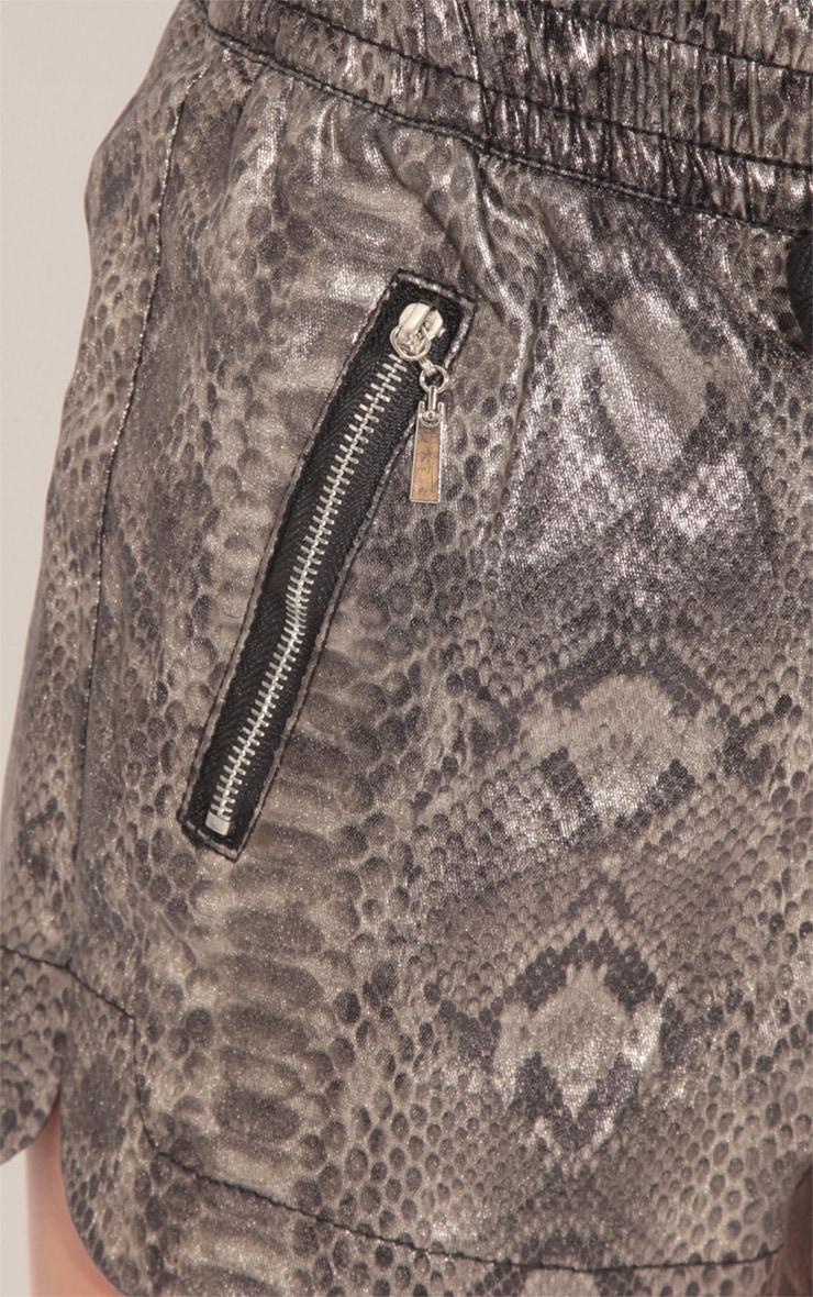 Allison Snake Boxer Print Shorts 4