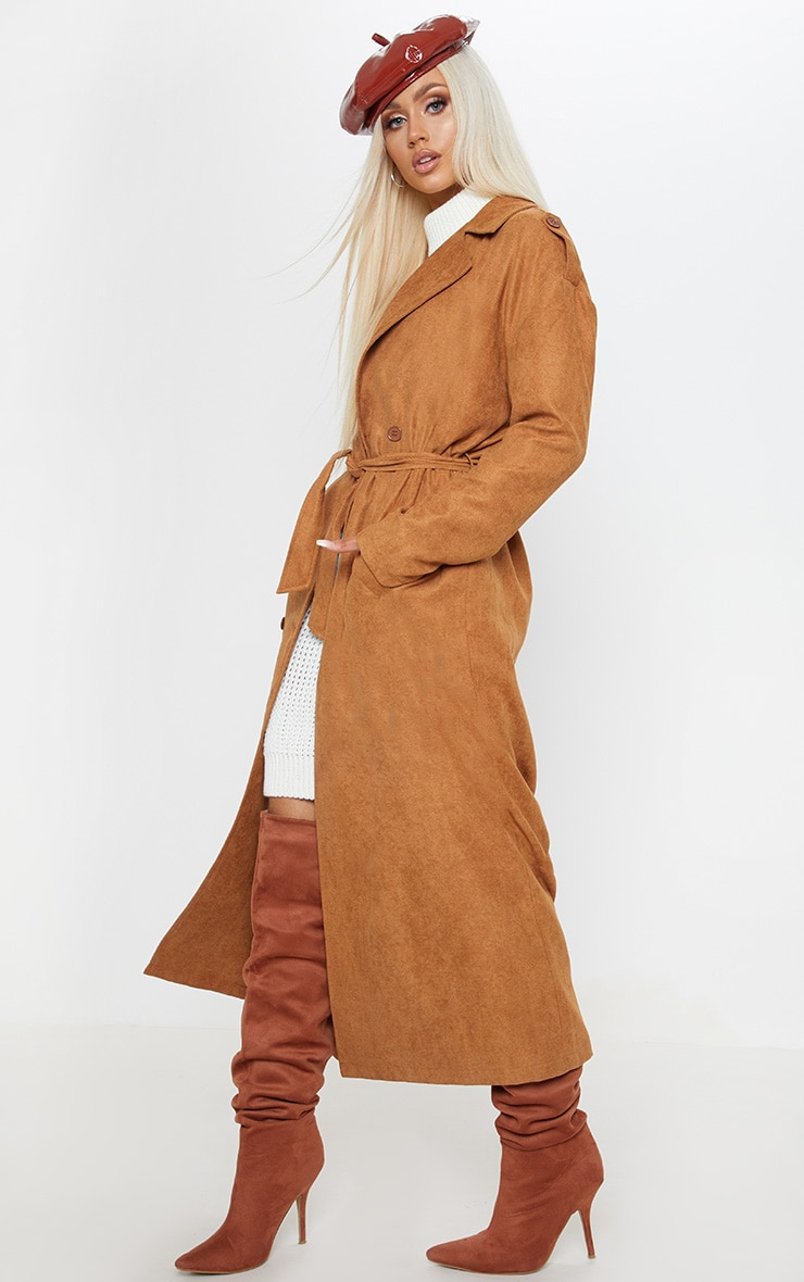 Tan Cord Belted Trench 4