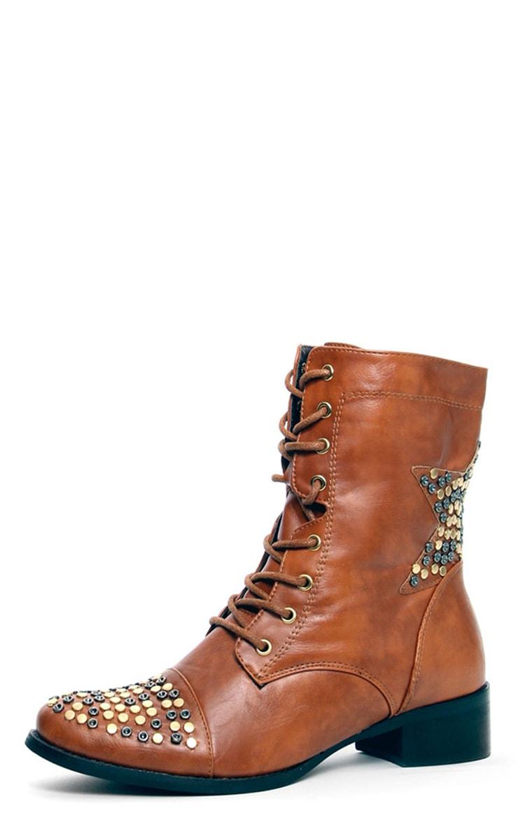 Roxanna Star Stud Biker Boots 1