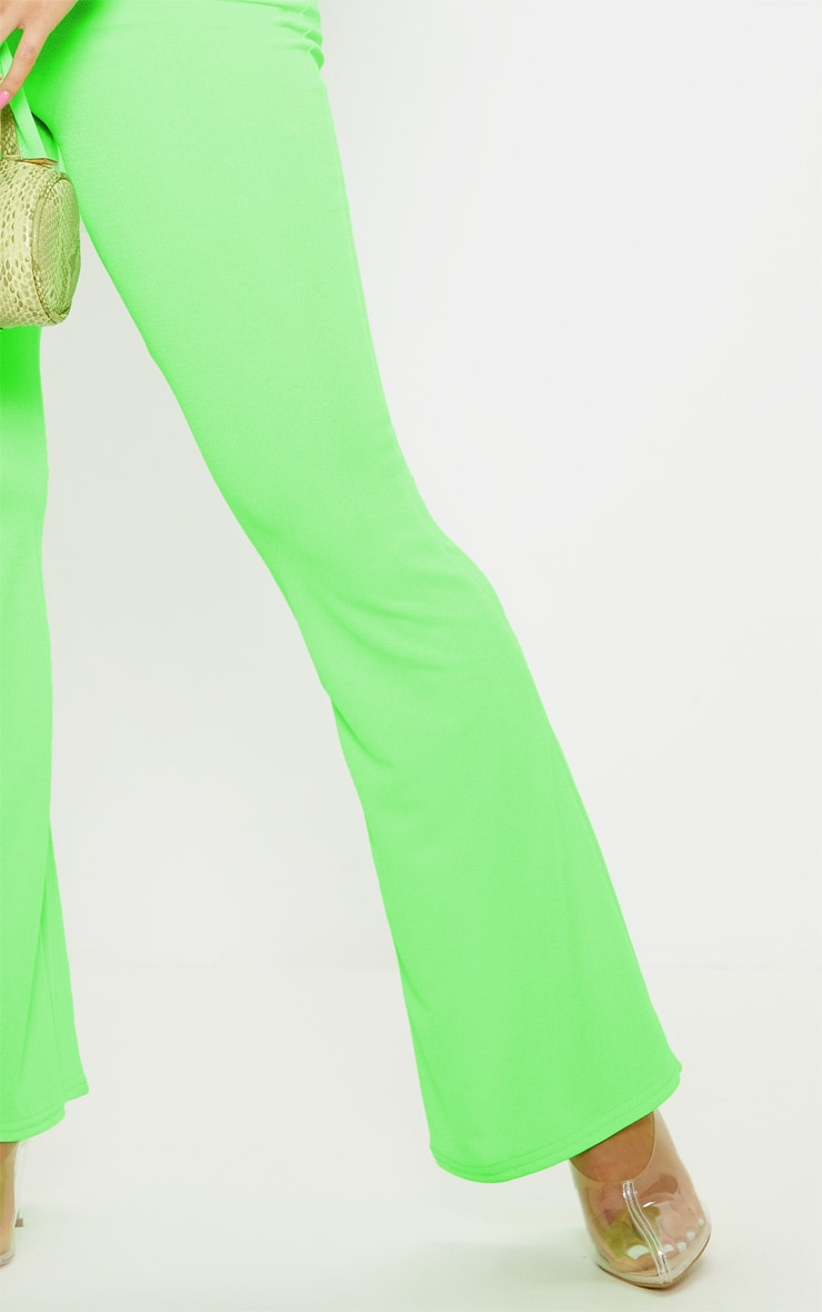 Petite Neon Lime Flare Pants  5