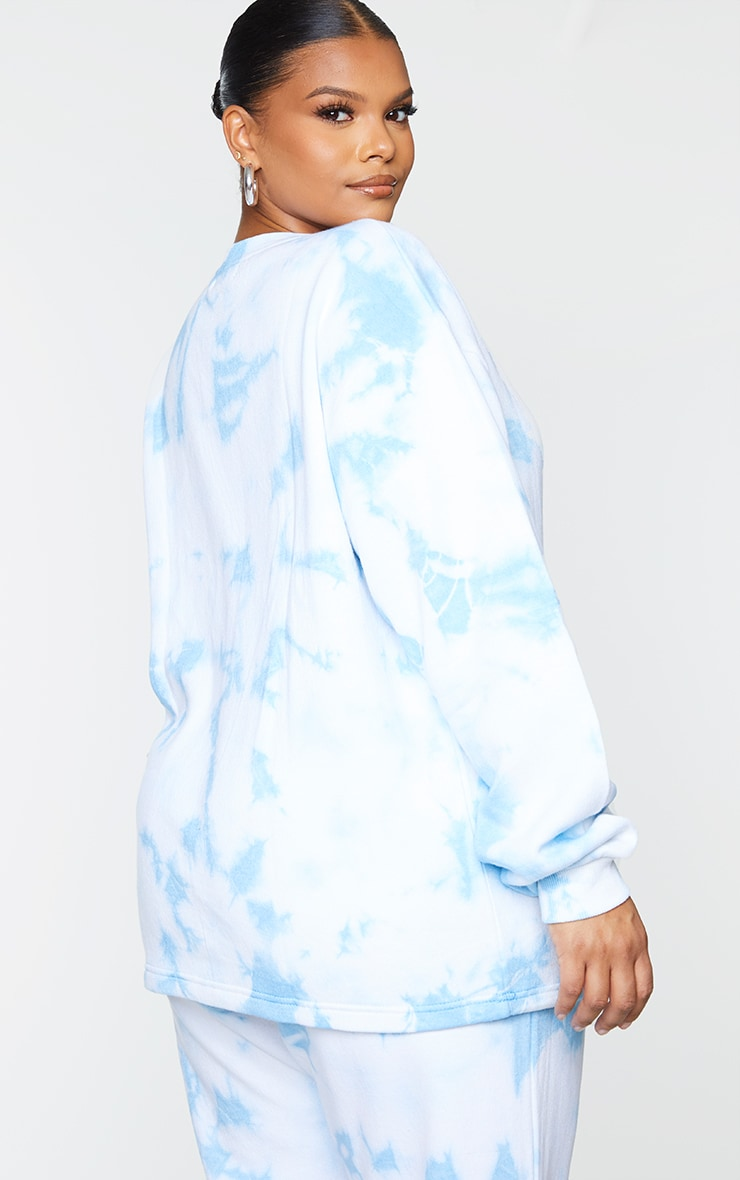 Plus Light Blue Butterfly Embroidered Sweater 2