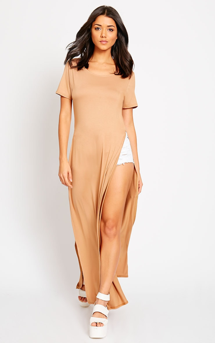 Monte Camel Side Split Maxi Top 4