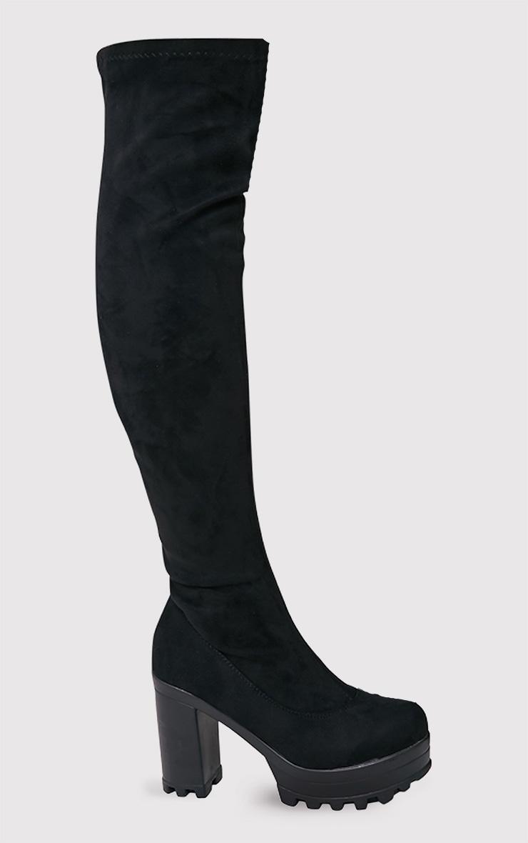 Kymberly bottes montantes noires à semelles cramponnées 1