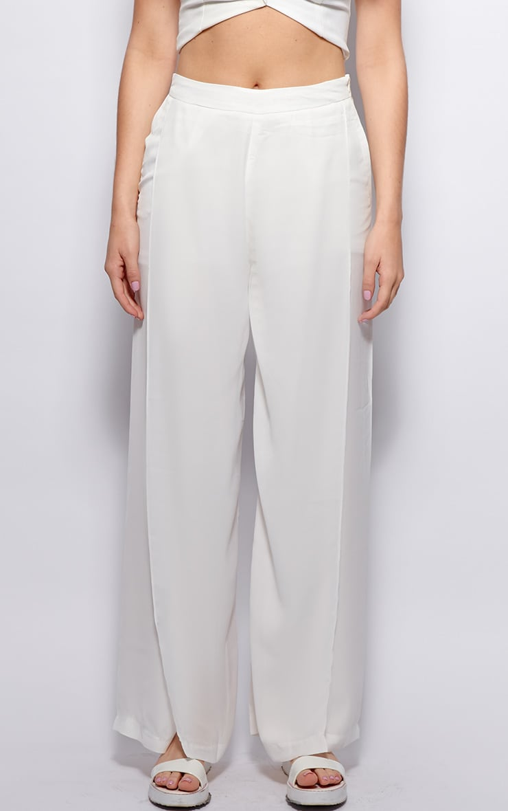 Natasha White Side Split Trousers 3