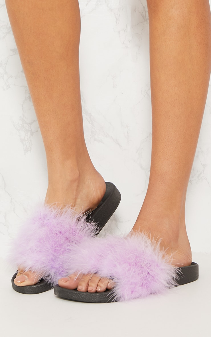 Lilac Feather Slides 2