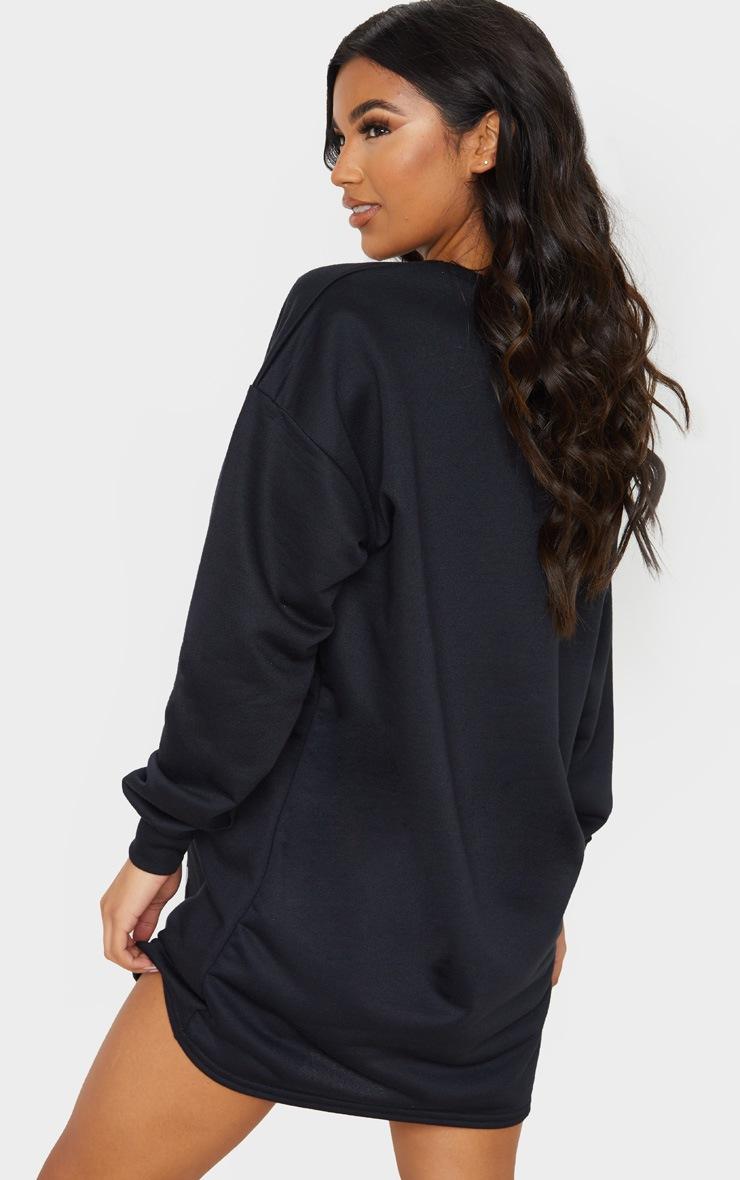 Black It's Lit Oversized Jumper Dress 2