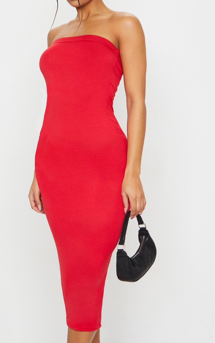 Red Bandeau Maxi Dress 4