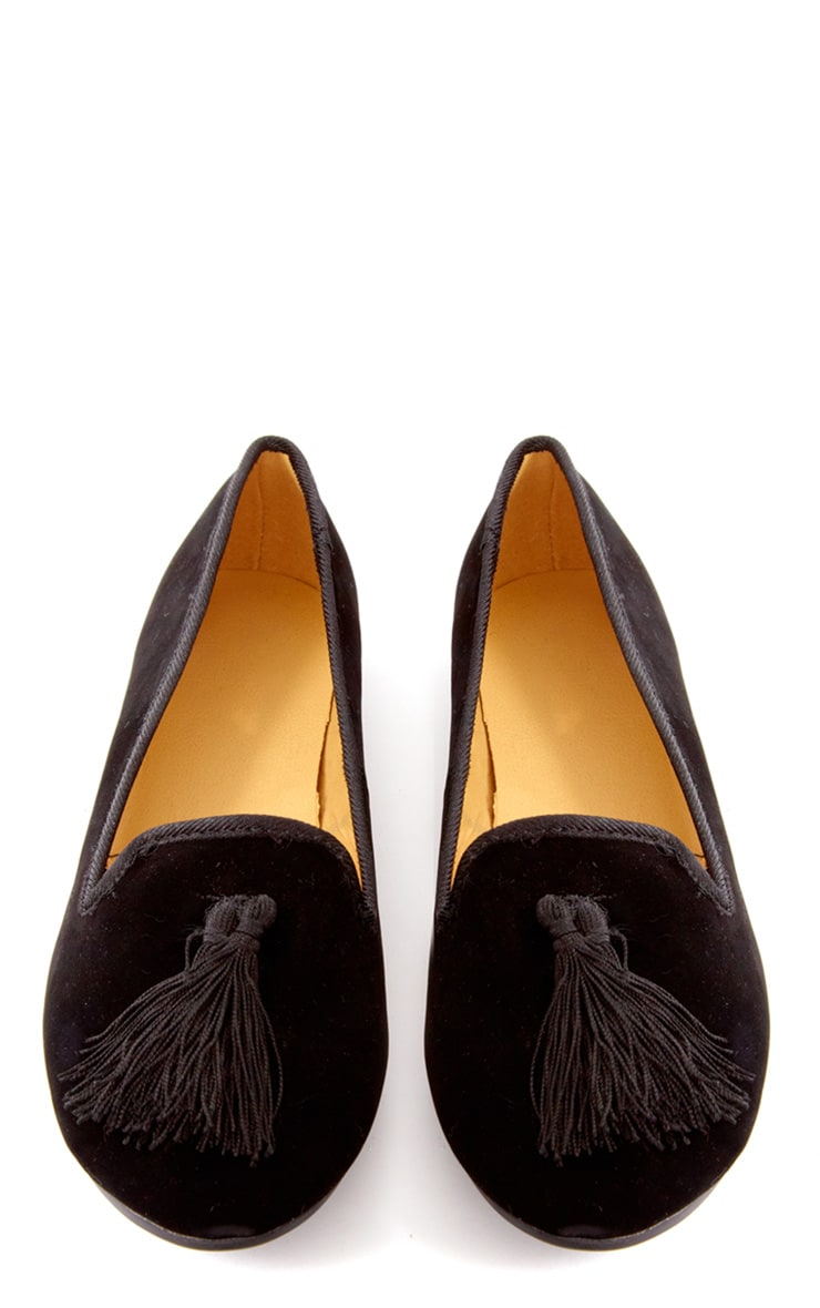 Lydia Black Pumps With Tassel  3