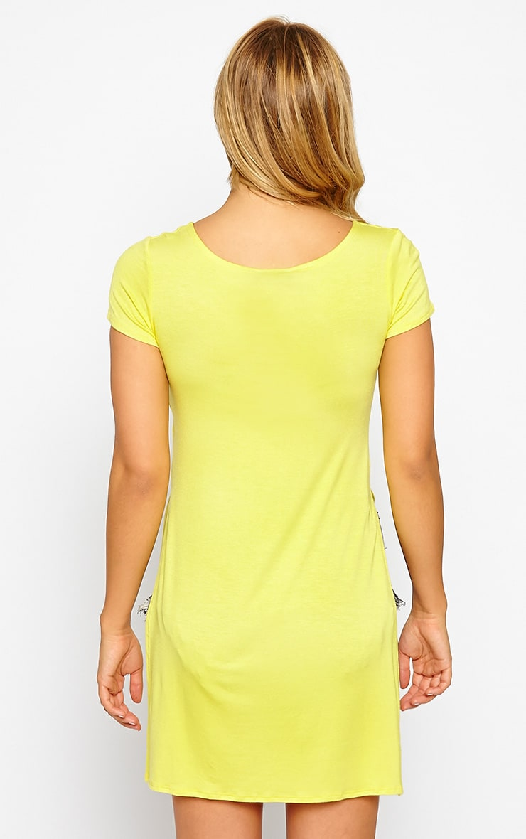 Basic Lemon Side Split T-Shirt 2