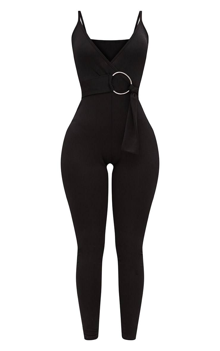 Shape Black Wrap Cami O-Ring Jumpsuit 3
