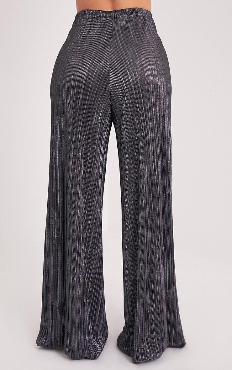 Shape Madaline Grey Split Front Metallic Trousers 5