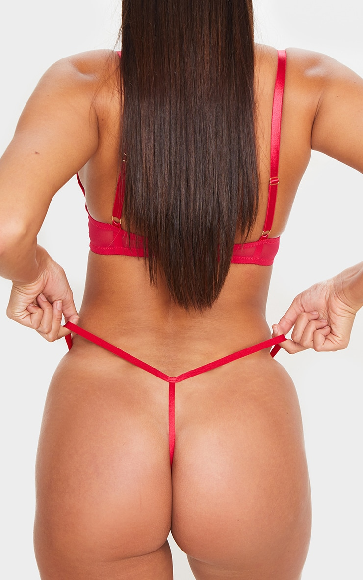 Red Ann Summers Sexy Lace Thong 6