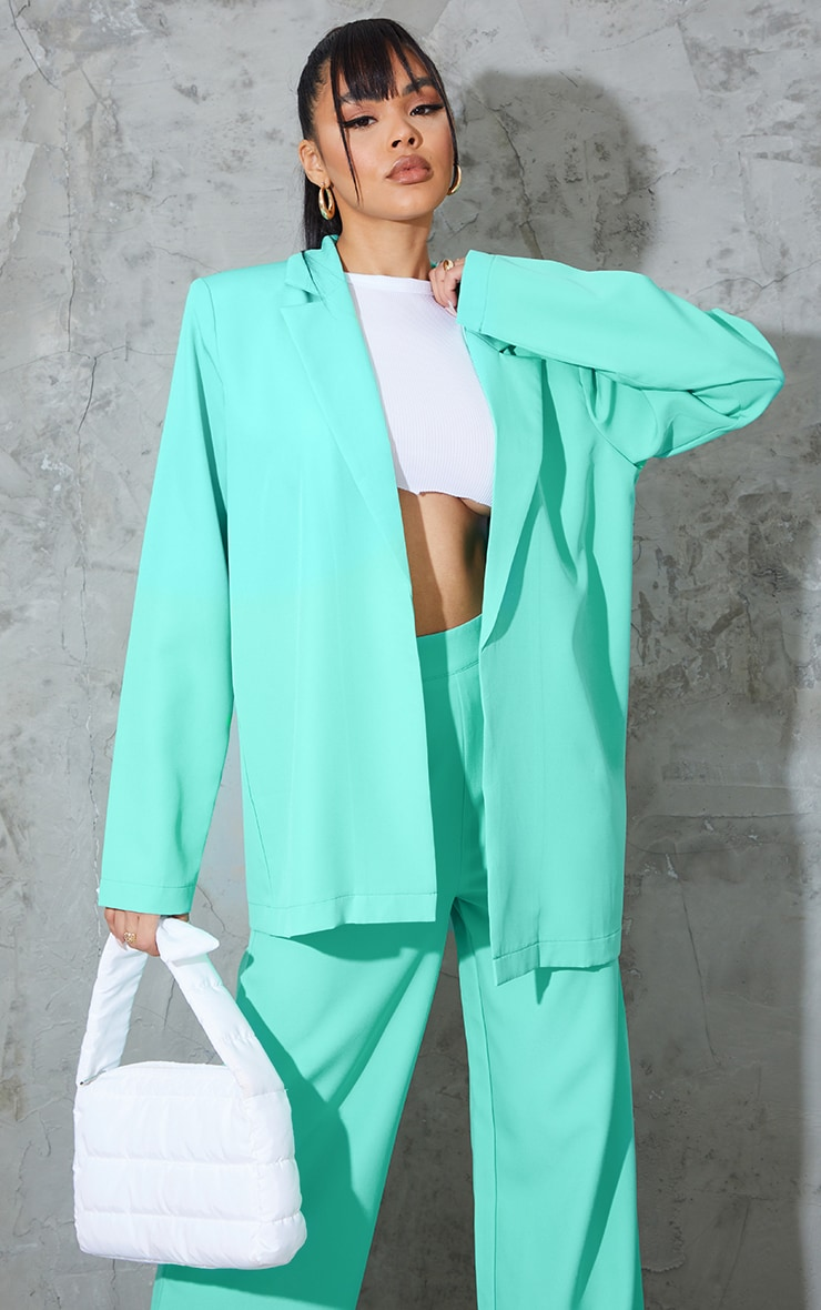 Teal Oversized Blazer 1