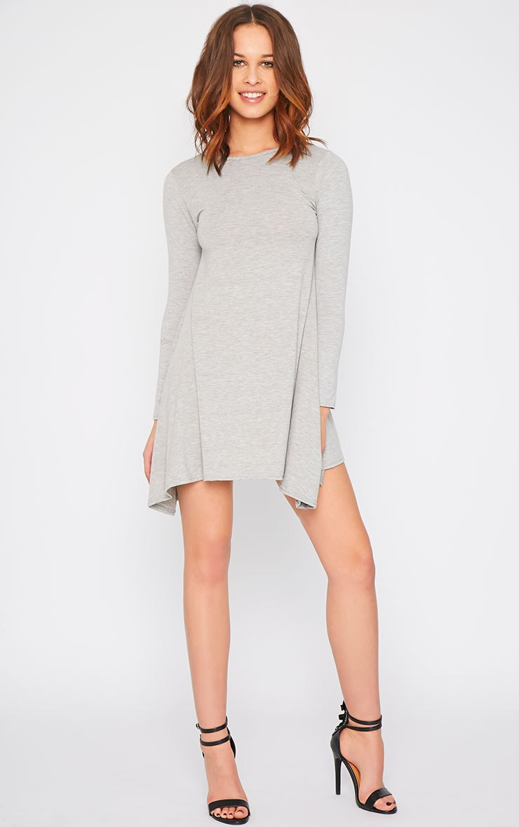 Basic Grey Swing Dress 3
