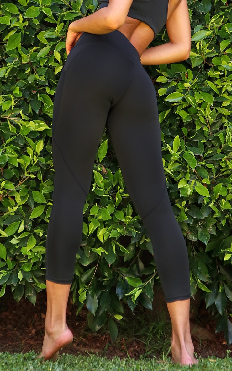 Black Side Pocket Basic Legging 3