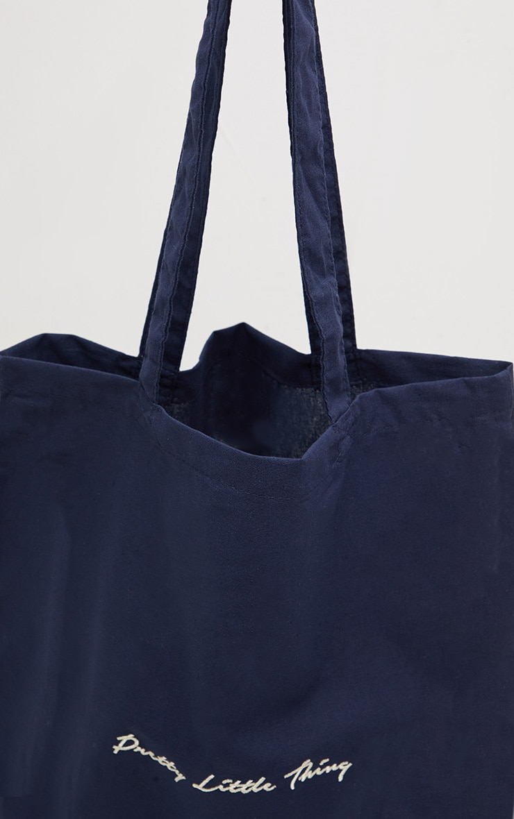 PRETTYLITTLETHING Navy Tote Bag 3