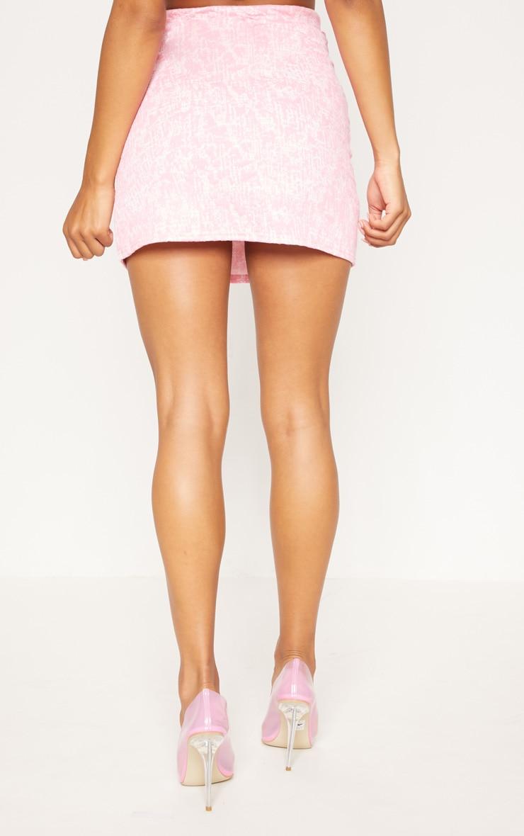 Pastel Pink Boucle Skirt 4