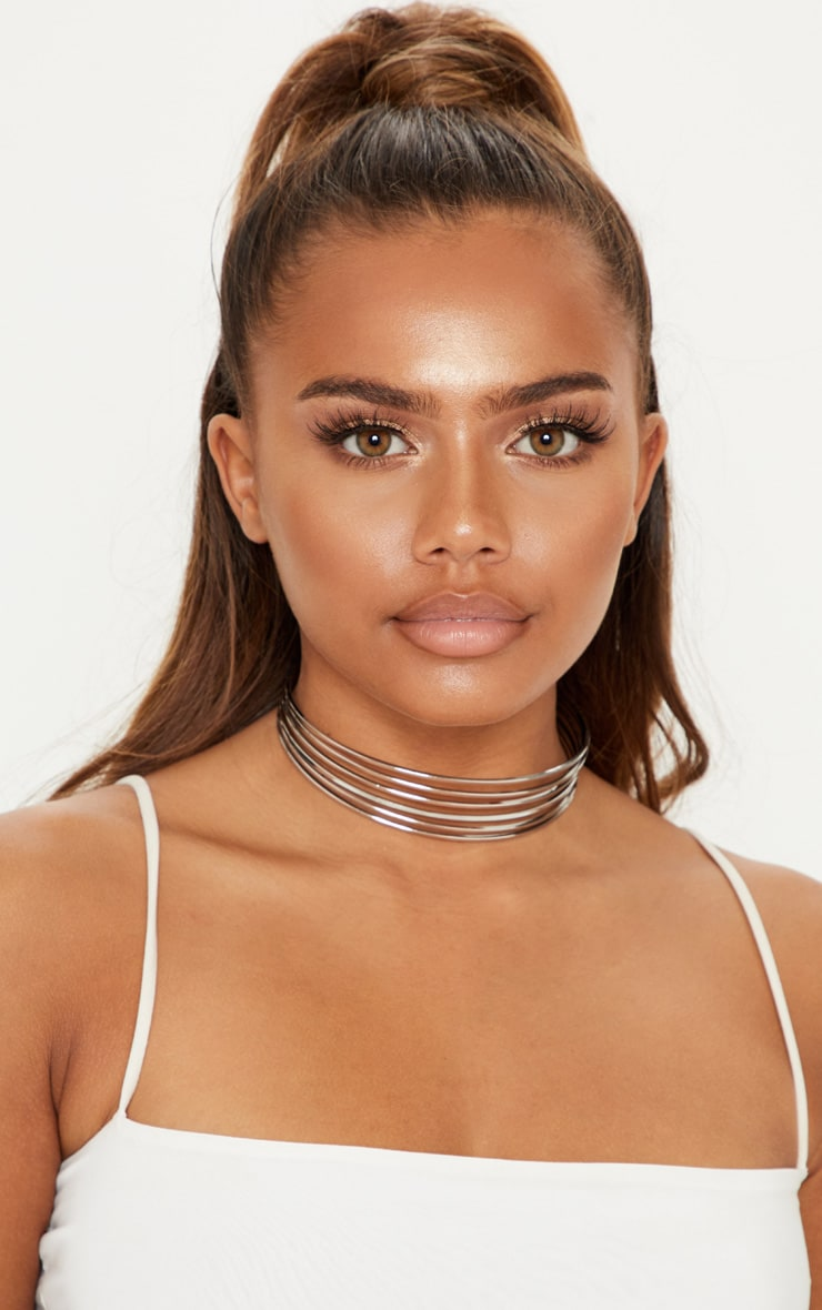 Silver Six Bar Choker