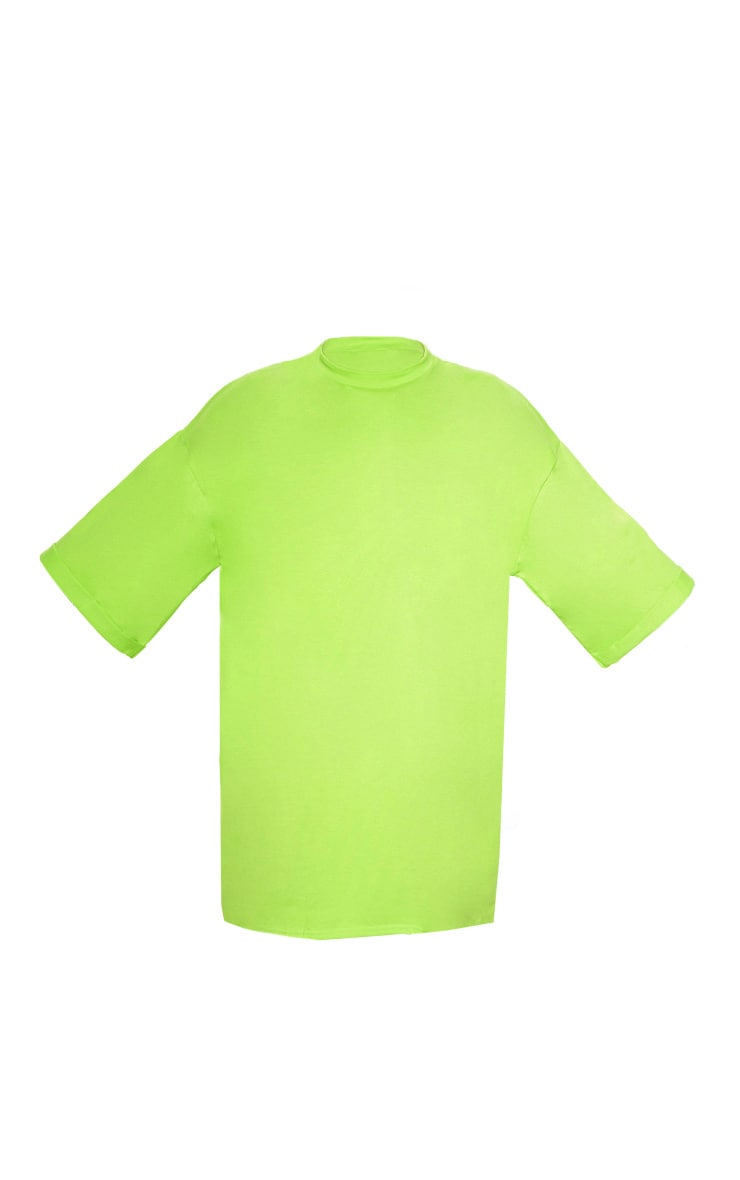 Neon Green I See You Oversized Slogan T Shirt Dress 3