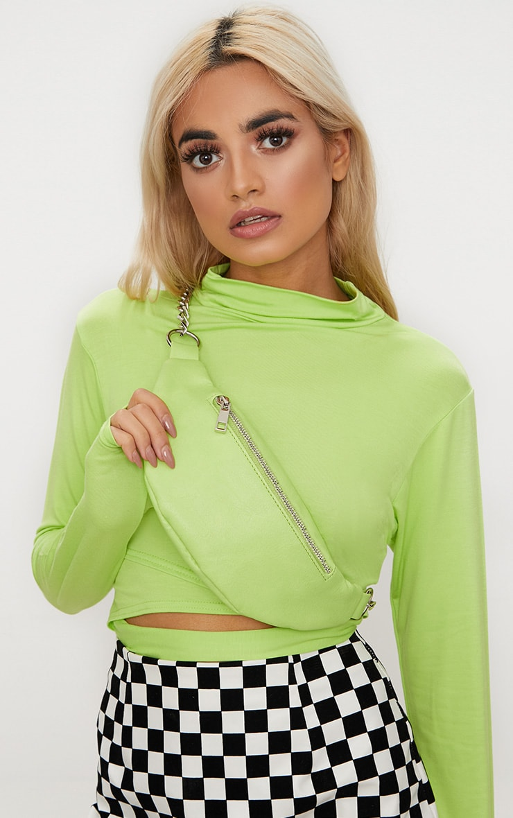 Lime Chunky Chain Bum Bag 1