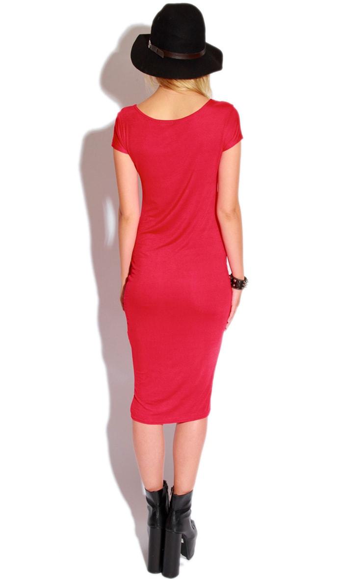 Lily Red Basic Midi Dress 4