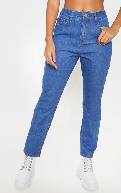 Mid Wash Basic Straight Leg Jean