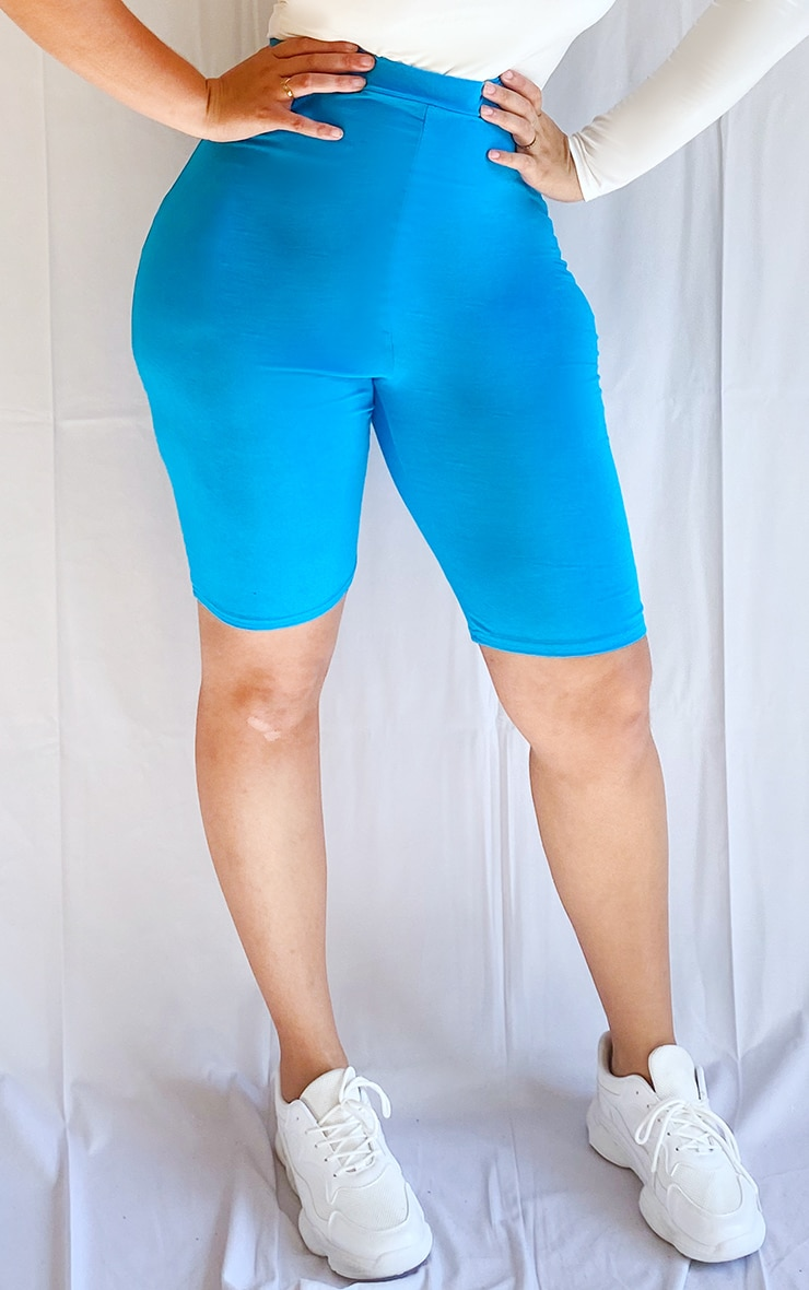 Plus Light Blue Basic Bike Shorts 2