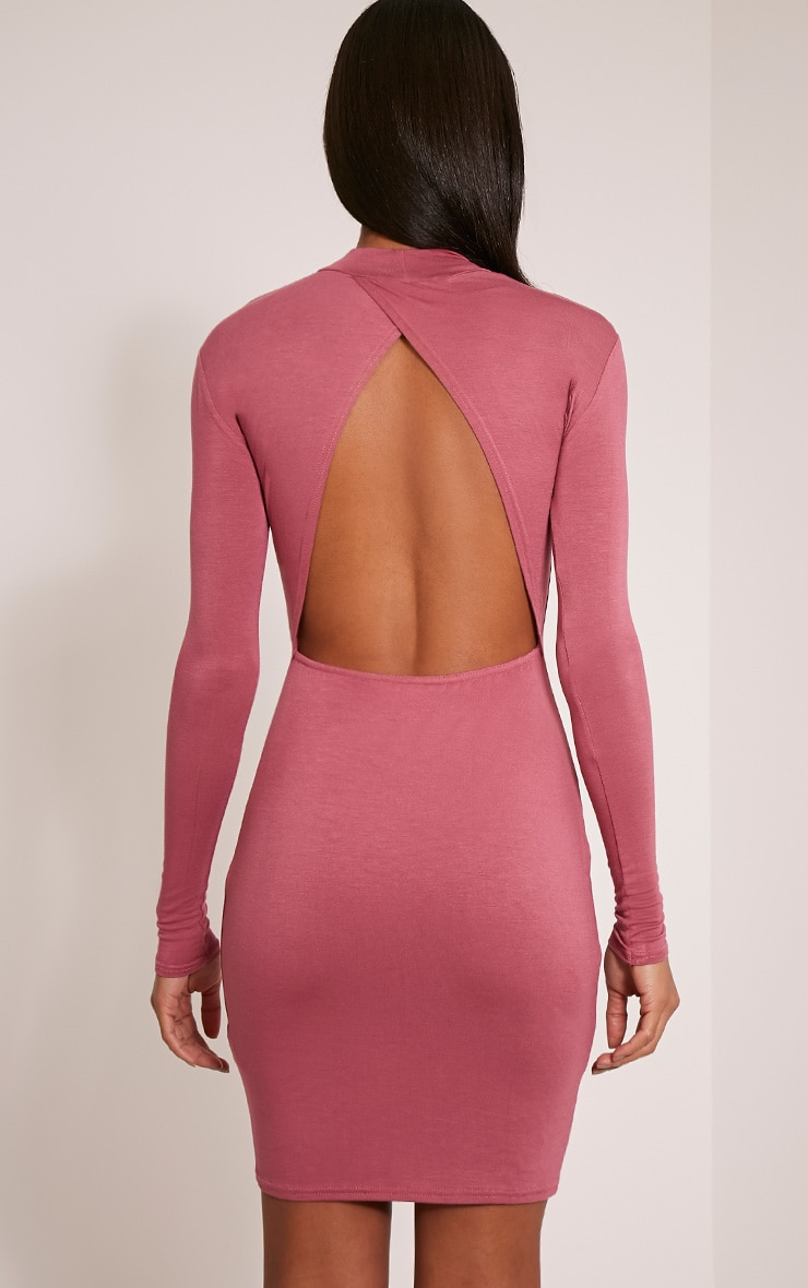 Demee Rose Open Back Jersey Bodycon Dress 2