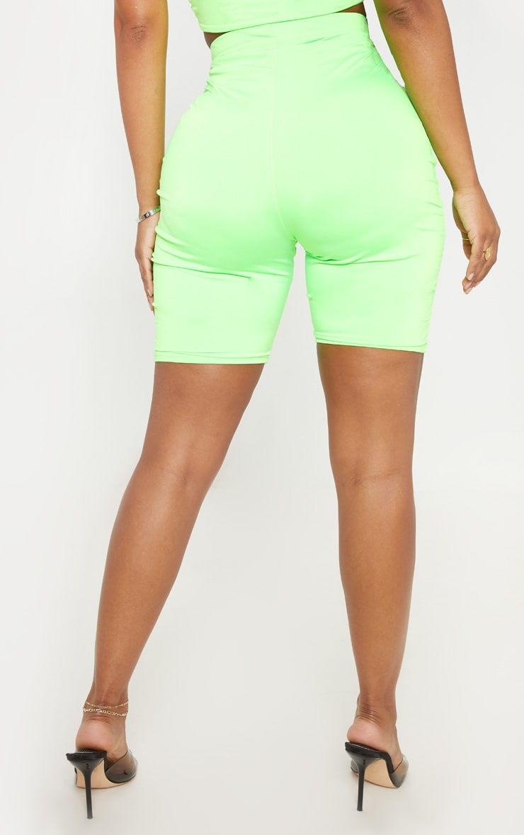 Shape Neon Lime Buckle Detail Bike Short 4