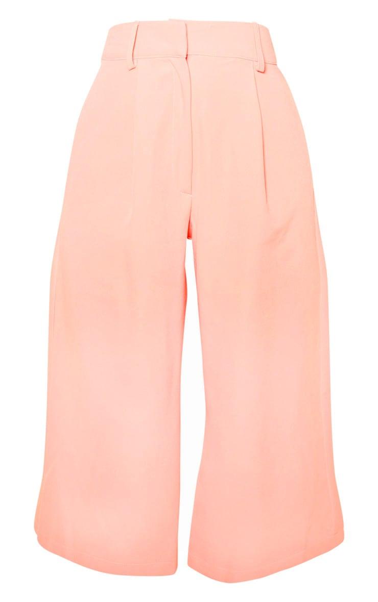 Petite Peach  High Waisted Culottes 3