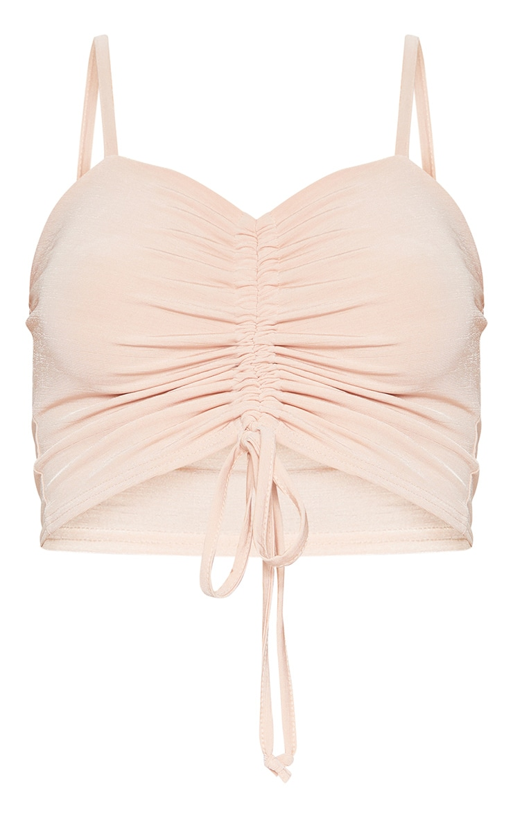 Rose Ruched Front Strappy Crop Top 3
