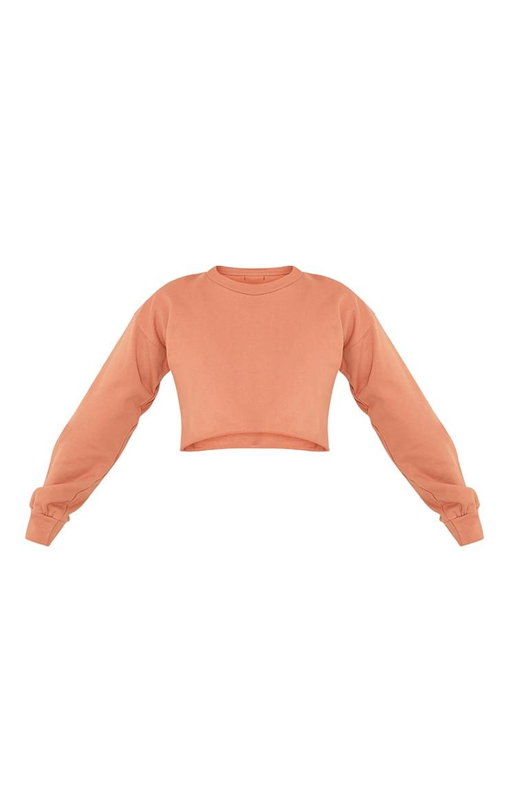 Petite Beau Deep Peach Cropped Sweater  4