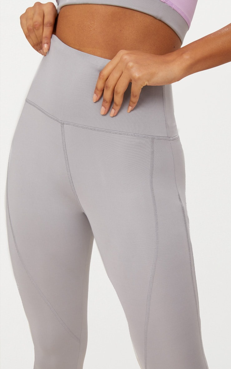 Grey High Waisted Sports Leggings 5