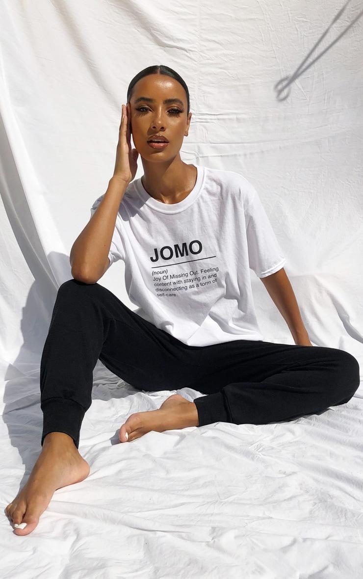 White Jomo Slogan T Shirt 2