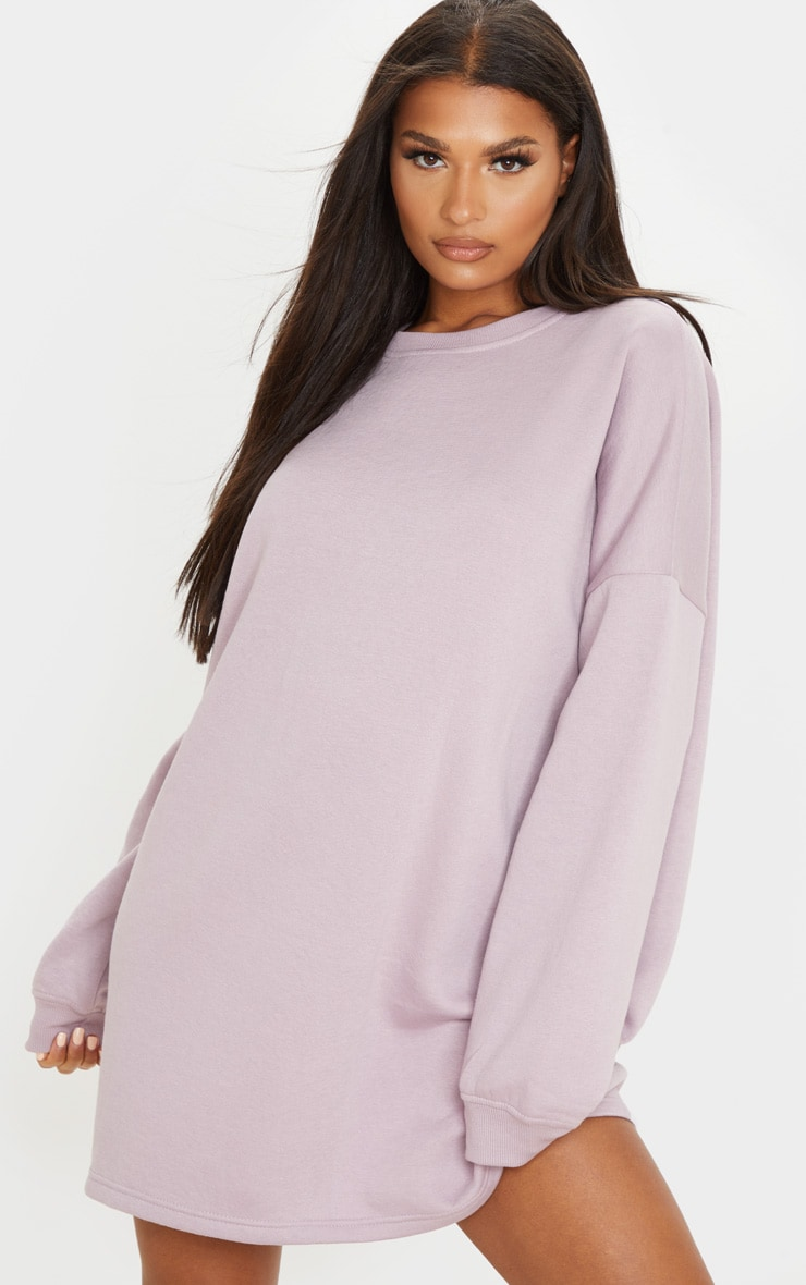 Dusty Lilac Oversized Sweater Dress 1
