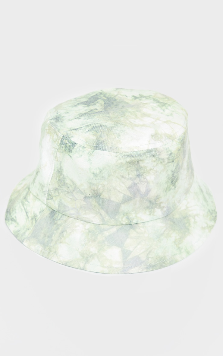 Green Tie Dye Bucket Hat 2