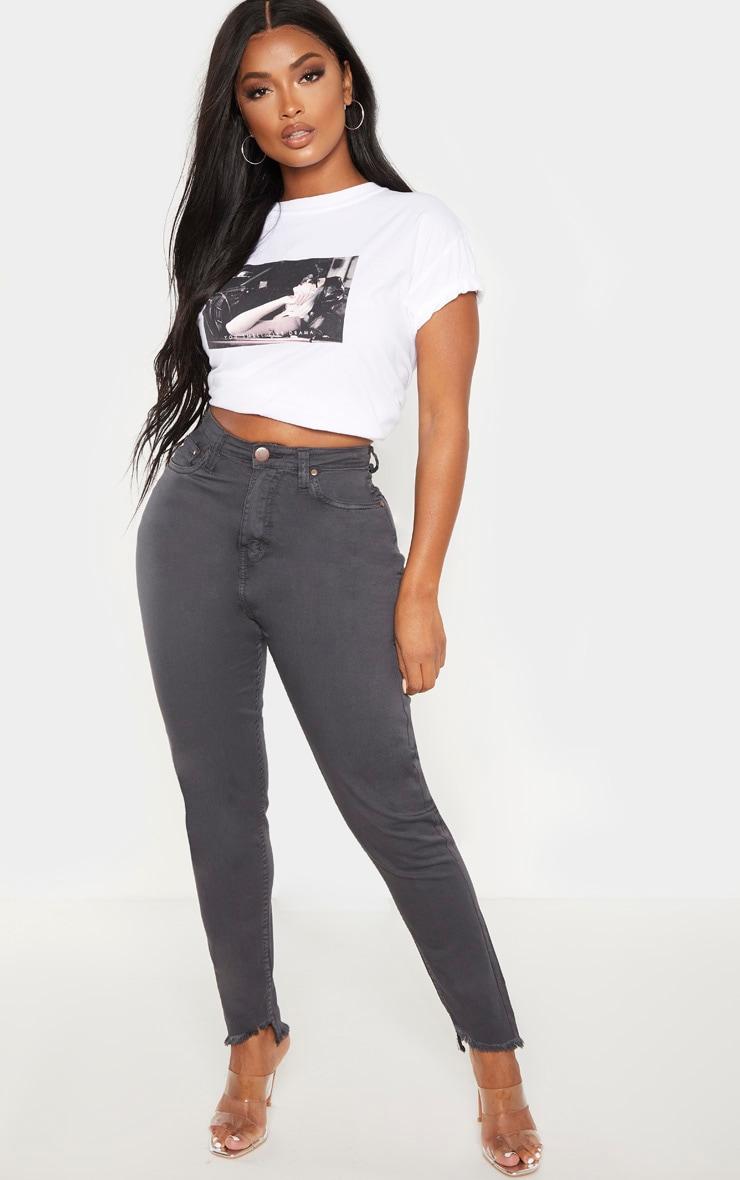 Shape Charcoal High Waist Skinny Jeans 1